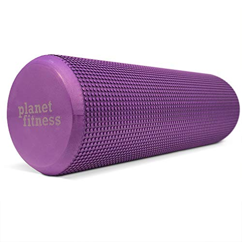 Planet Fitness Foam Roller for Tired and Sore Muscles - Gentle Deep Tissue Massage for Trigger Point Release - 18 Inches, Purple