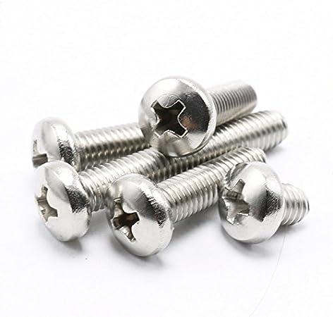"5//16/""-18316 Stainless Steel Phillips Pan Head Machine Screws Select Length"