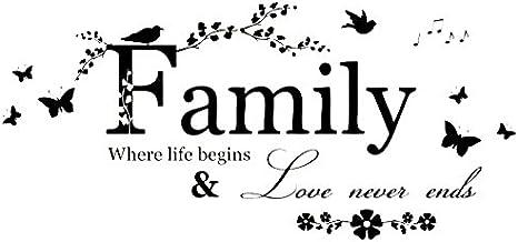 Gesh Verwijderbare Muursticker Art Sticker Muurschildering Home Woonkamer Decor Familie Woorden