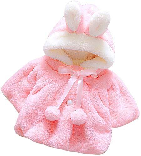 Giacche Bambino Invernali, Giacca del Mantello del Cappotto di Inverno della Neonata Giubbotto Vestiti Caldi Spessi Felpa Maniche Lunghe (Rosa,0-6 mes