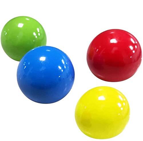 Fangteke 4 Piezas Bolas de Pared Adhesivas Pelotas de Juguetes de descompresión para niños Adultos