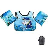 JEVDES Swim Vest for Toddlers, Kids Jacket 2-7 Years Old Cute Cartoon Toddler Vest Children Swim Vest Jacket for Boys & Girls