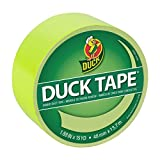 Duck Brand Colored Duct Tape, Fluorescent Citrus, 1.88 Inches x 15 Yards, Single Roll (285225)