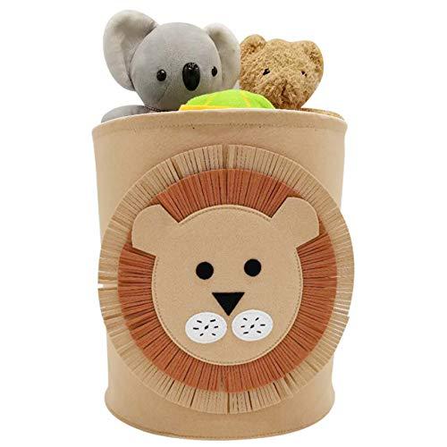 Cesta de lavandería con Diseño de Animales,Cesta de Fieltro para Ropa,Almacenamiento de Ropa de Fieltro,Cesta de Almacenamiento de Juguetes,Bolsa Fieltro Plegable (B)