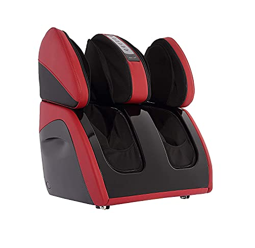RoboTouch Classic Plus Leg, Foot and Calf Massager for Pain Relief and Relaxation (Red) (Rose Red)