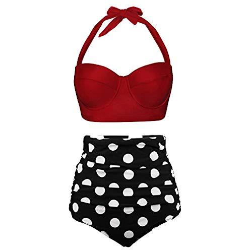 VJJ AIDEAR Women Retro Vintage Underwire High Waisted Bathing Suits Bikini Set