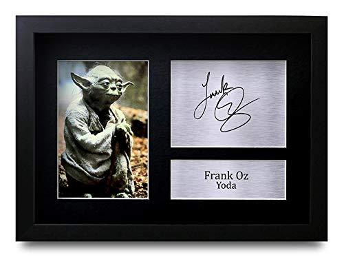HWC Trading Frank Oz A4 Gerahmte Signiert Gedruckt Autogramme Bild Druck-Fotoanzeige Geschenk Für Star Wars Yoda Filmfans