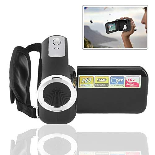 Topiky Kinder Digital Videokamera Camcorder,Tragbares Exquisites 2'' TFT Farb LCD,1080 * 720 4k HD 16X Digital Zoom,Support Speicherkarte, Geburtstag,Weihnachten,Urlaub,Sport(Schwarz)
