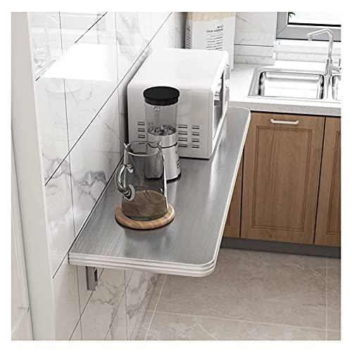 Sywlwxkq Mesa Plegable montada en la Pared Banco de Trabajo Resistente para Oficina en casa/Bar en casa/Cocina y Comedor Ahorro de Espacio (Color: Plata, Tamaño: 70x40cm)