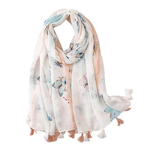 Clest F&H Butterfly Pailletten Print Schal Schal-weicher langer Schal für Frauen
