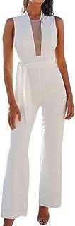 Best white v neck jumpsuit Reviews