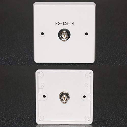 AV Wall Face Plate, BNC Video HD-SDI 12G 4K UHD 75 ohm socket
