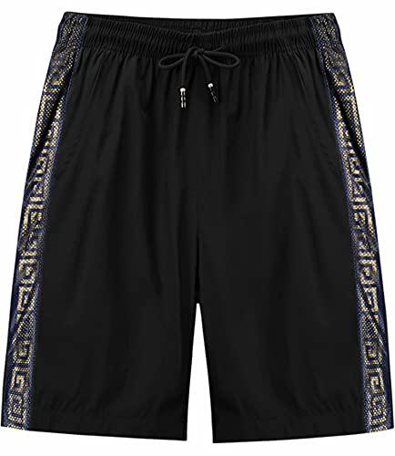 VtuAOL Outdoor Elastic Waist Shorts Sports Workout Cargo Running Shorts for Men Blue US 39-40