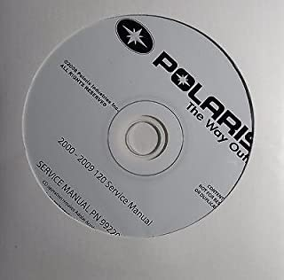 2000-2009 POLARIS SNOWMOBILE YOUTH 120 SERVICE MANUAL CD P/N 9922000-CD (403)