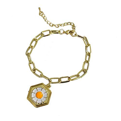 VVXXMO Coloful Daisy Flower Hawaiian Earrings Flower Floral Pendant Necklace Earrings Bracelet for Women Fashion Jewelry Set