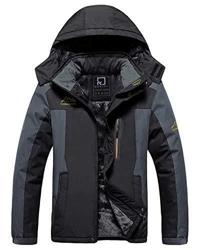 R RUNVEL Waterproof Coats Mens Winter Jackets Hiking Ski Rain Warm Fleece...