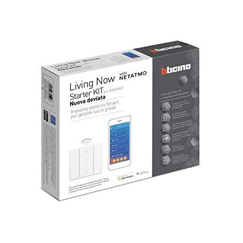 Kit bticino Starter Living Now Nueva desviados domótica k3000kit para la práctica de luces y TOMAS