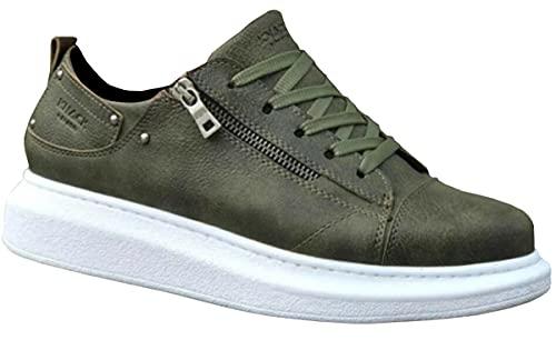 Knack 555 - Zapatos para hombre, estilo casual, para uso diario, ligeros, transpirables, para caminar, color verde, Green, 43.5 EU