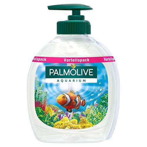 Palmolive Seife Aquarium, 6er Pack (3x Flasche mit Pumpe und 3x Nachfüllflasche) - Flüssigseife zur sanften Reinigung der Hände, dermatologisch getestet