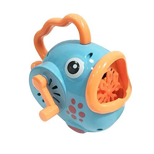 ZXCV Blasen-Maschine, manuelles Gebläse-Hersteller-Baby scherzt Schwimmen-Badewannen-Seifen-Maschinen-Wasser-Spielzeug im Freien,Blau