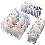 MLJTECH Paquete de 3 organizadores de cajones para ropa interior, calcetines para sujetadores, cajas de almacenamiento,...