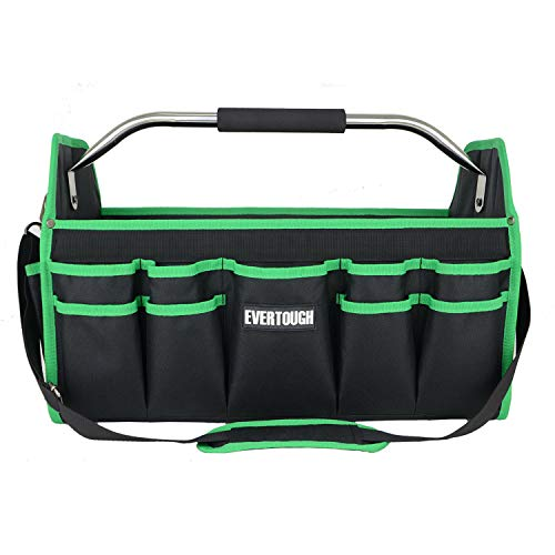 16' Electrician Open Top Tool Tote Bag, 600D Reinforced Material Tool...