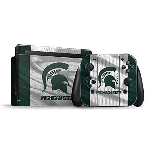 Skinit Decal Gaming Skin Compatible with Nintendo Switch Bundle - Officially Licensed College Michigan State University Spartans Jersey Design