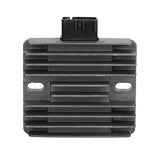 Rectificador regulador de voltaje, accesorio de coche de aleación de aluminio negro, rectificador de 6 pines apto para Arctic Cat 1000 Mud Pro
