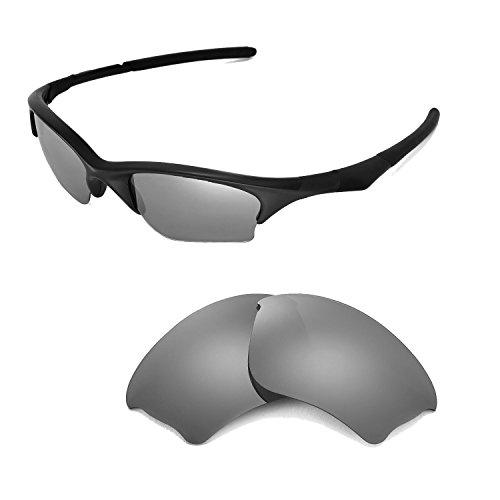 Walleva Walleva Ersatzgläser für Oakley Half Jacket XLJ Sonnenbrille-Mehrfache Optionen (Titanium Mirror Coated - Polarisiert)
