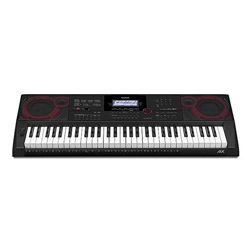 Casio CT-X3000 Top Keyboard mit 61 anschlagdynamischen Standardtasten und Begleitautomatik, schwarz, weiß