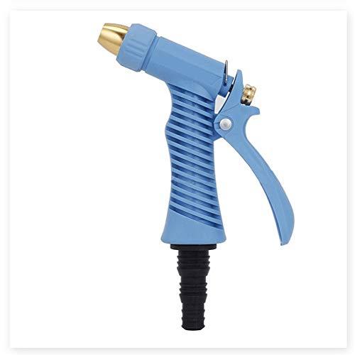 KPOON Gartenschlauchdüse Die Anti-Rutsch-Gestaltung von Haushalt Garten-Wasser-Gewehr for Bewässerungs-Anlagen Autowaschanlagen, Blau, Grün Gartenduschen (Color : Blue, Size : One Size)