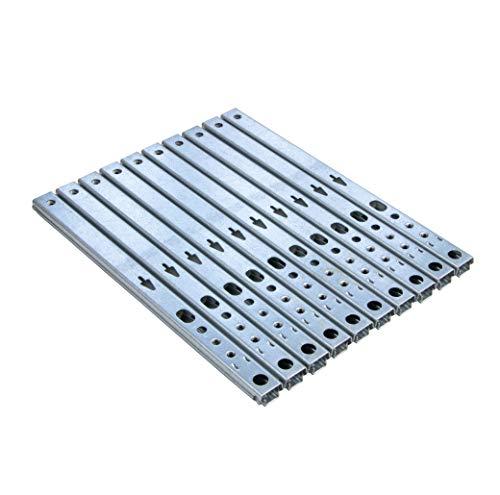 Gedotec Schubladen-Schiene Teilauszug 17 mm Teleskopschiene Küche Kugelauszug für Möbel | Stahl verzinkt | Auszugsschiene kugelgelagert | Tragkraft 12 kg | Länge: 214 mm | 10 Stück - Schrank-Auszüge