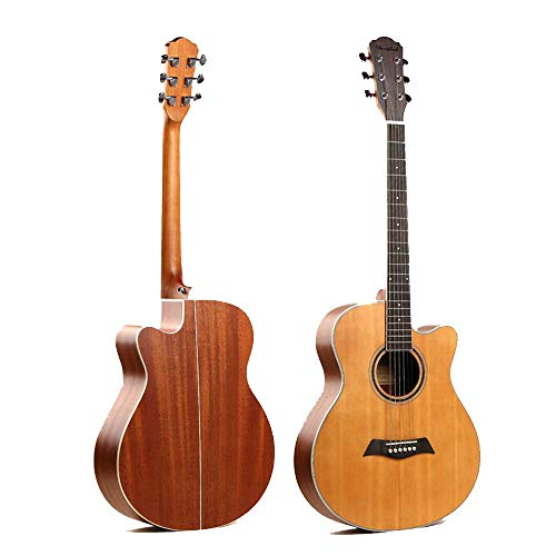 North King Guitarra acústica de 51 Pulgadas Mono-Board Folk Guitarra Abierta Mate Adultos Instrumentos de música