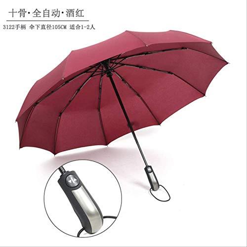 YSZYSA 50 stücke 10 Karat Automatische Regenschirm DREI Taschenschirm Männer und Frauen Business Regenschirm Großhandel Werbung Regenschirm Benutzerdefinierte Logo3122
