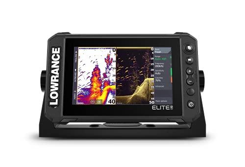 Lowrance - Elite FS 7 (sistema de pesca), buscador de peces con transductor Active Imaging 3 en 1 y cartas C-MAP Contour+ precargadas