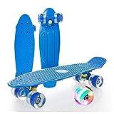 Monopatín De Crucero, para Principiantes para Niños, Adolescentes Y Adultos, LED Light RUEDES, (Color : Blue)