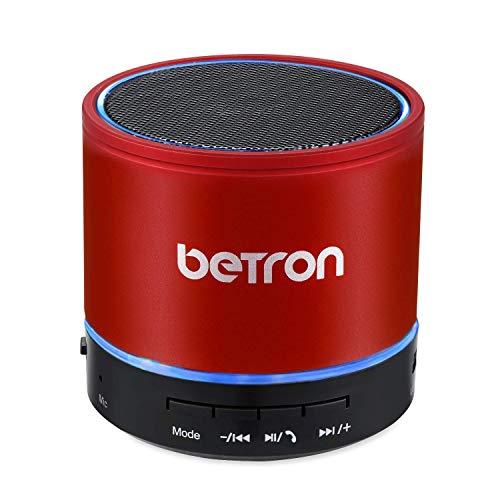 Betron KBS08 Wireless Portable Travel Bluetooth Speaker (Red)