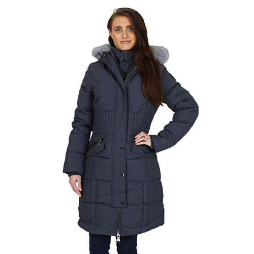 Pajar Women's Annie Duck Down Long Winter Cold Weather Parka Coat Gray Size S