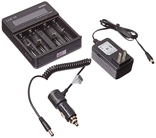 Efest LUC V4 Battery Charger with Included Car Charge Cable