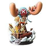 Liiokiy 26 cm Anime Figura One Piece Anime Juego Carácter Modelo Tony Tony Chopper Reno Barco Figura Acción Modelo Hecho A Mano Modelo Juguetes Arte Estatuas Juegos Anime PVC Boxed
