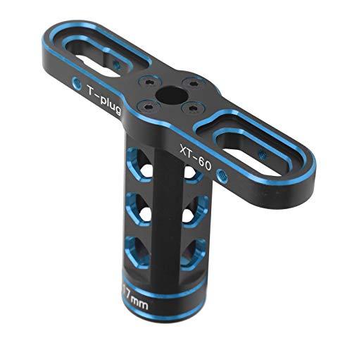 VGEBY Conector de Tuerca Hexagonal RC, aleación de Aluminio antioxidante de 17 mm, Manga de Tuerca Hexagonal RC, Herramienta de Mantenimiento de Manga en T Ligera, para Coche (Azul)