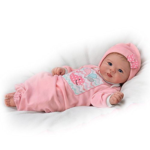 The Ashton-Drake Galleries Little Squirt with Hand-Rooted Hair So Truly Real Lifelike & Realistic Weighted Newborn Baby Doll 17-inches