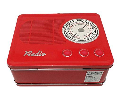 Boîte de conservation avec motifs Motif Radio Vintage | dans versch., Rot