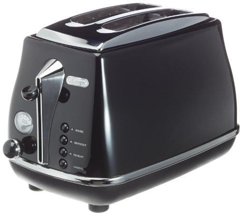 DeLonghi Icona Toaster 220-240 Volt/ 50-60 Hz (INTERNATIONAL VOLTAGE & PLUG), 2-Slice, Black