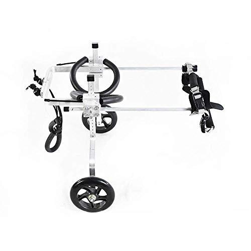 Zairmb Verstellbarer 2-Räder-Hunderollstuhl Hund Rollstuhl Hundegehilfe Für Behinderte Hunde Die Rehabilitation der Hinterbeine-M-2