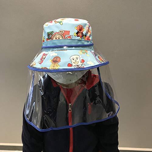 Outdoor UV-Schutz Sommer Cap,Frühling und Sommer niedliche Kinder Baby Hut Flut Flut Cartoon Fischer Hut Männer und Frauen Schutzkappe Sonnenschutz Kappe-Himmelblau_S Größe 52cm ist für 2 bis 7 Jahre