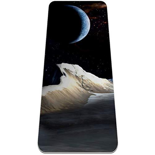 Universe Galaxy Space Planet - Esterilla de yoga, antideslizante, respetuosa con el medio ambiente, alfombrilla de entrenamiento para yoga, pilates y ejercicios de piso 182,8 x 81,2 cm