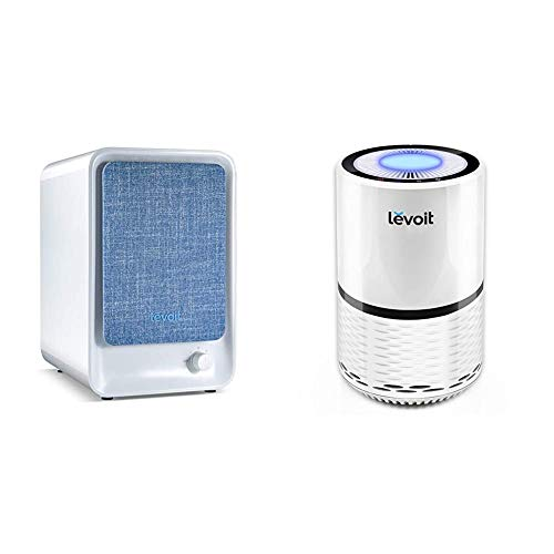 LEVOIT HEPA Air Purifier for Home, Smoke Cleaner w/Dual Activated Carbon Filter for Bedroom Office Dorm & H13 True HEPA Filter Air Purifiers, for Bedroom, Large Room with Optional Night Light, LV-H132