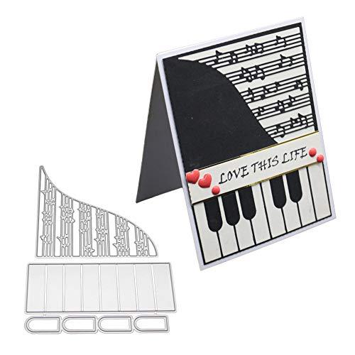 Redcolourful Muziekenserie van Piano Meurt Knutselen Scrapbooking Gravure Sjabloon