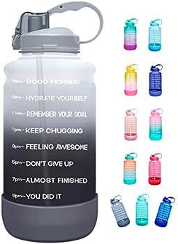 Elvira Half Gallon/64oz Motivational Time Marker Water Bottle